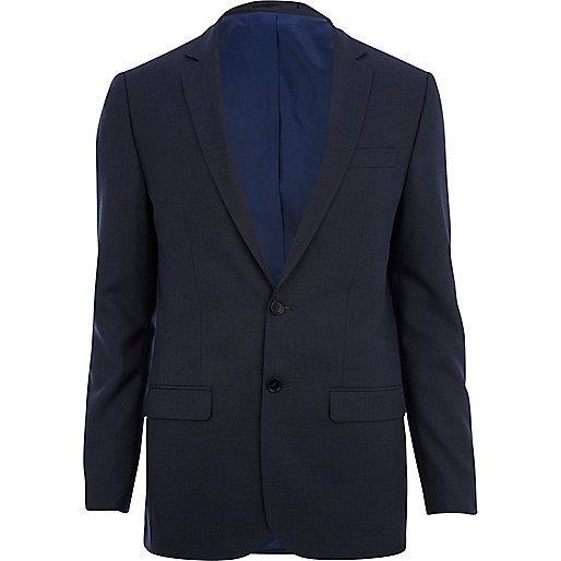 Dark blue skinny suit jacket