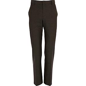 Light brown slim fit suit trousers