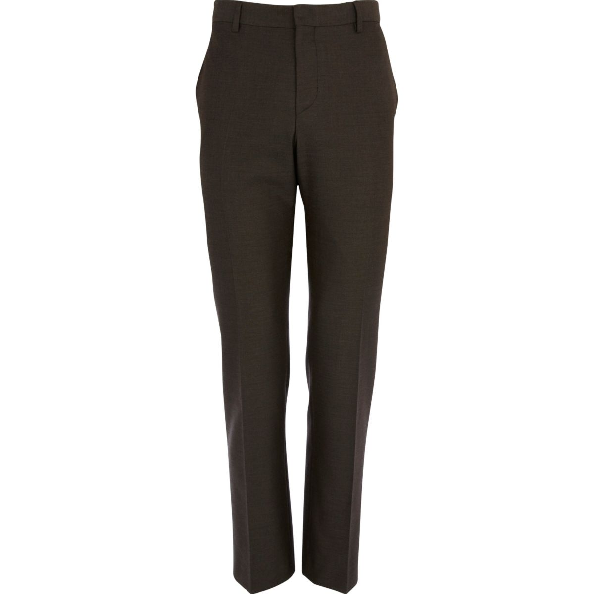 Light brown slim fit suit pants