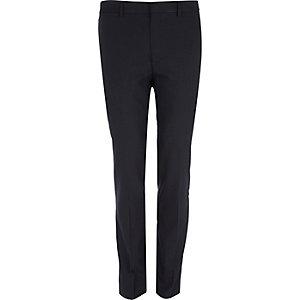 Navy polka dot skinny smart trousers