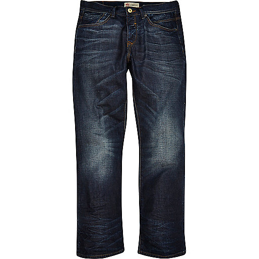 Dark blue wash Clint bootcut jeans - jeans - sale - men