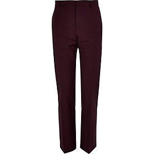 Plum slim suit pants