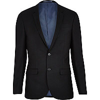 Black slim suit jacket