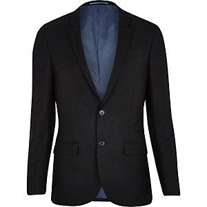 Black slim suit jacket
