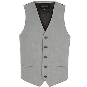 Light grey single breasted vest