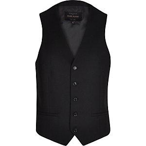 Black single breasted waistcoat
