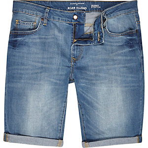 Helle Stretch-Jeansshorts in Skinny Fit