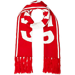 Red snow board word scarf