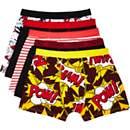 Mixed comic print boxer shorts pack