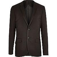 Veste style smoking noire à bordures contrastées