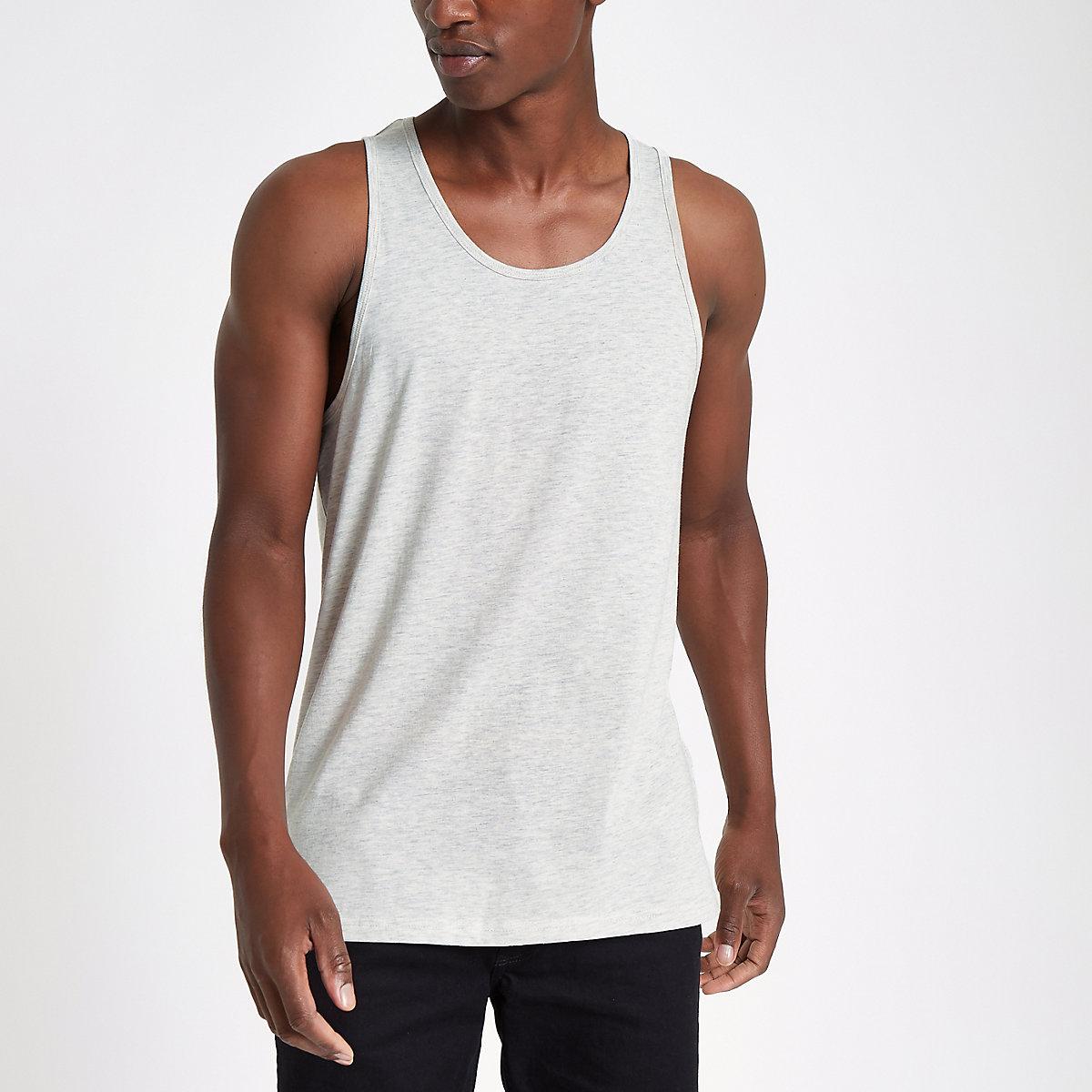 Ecru scoop neck vest top