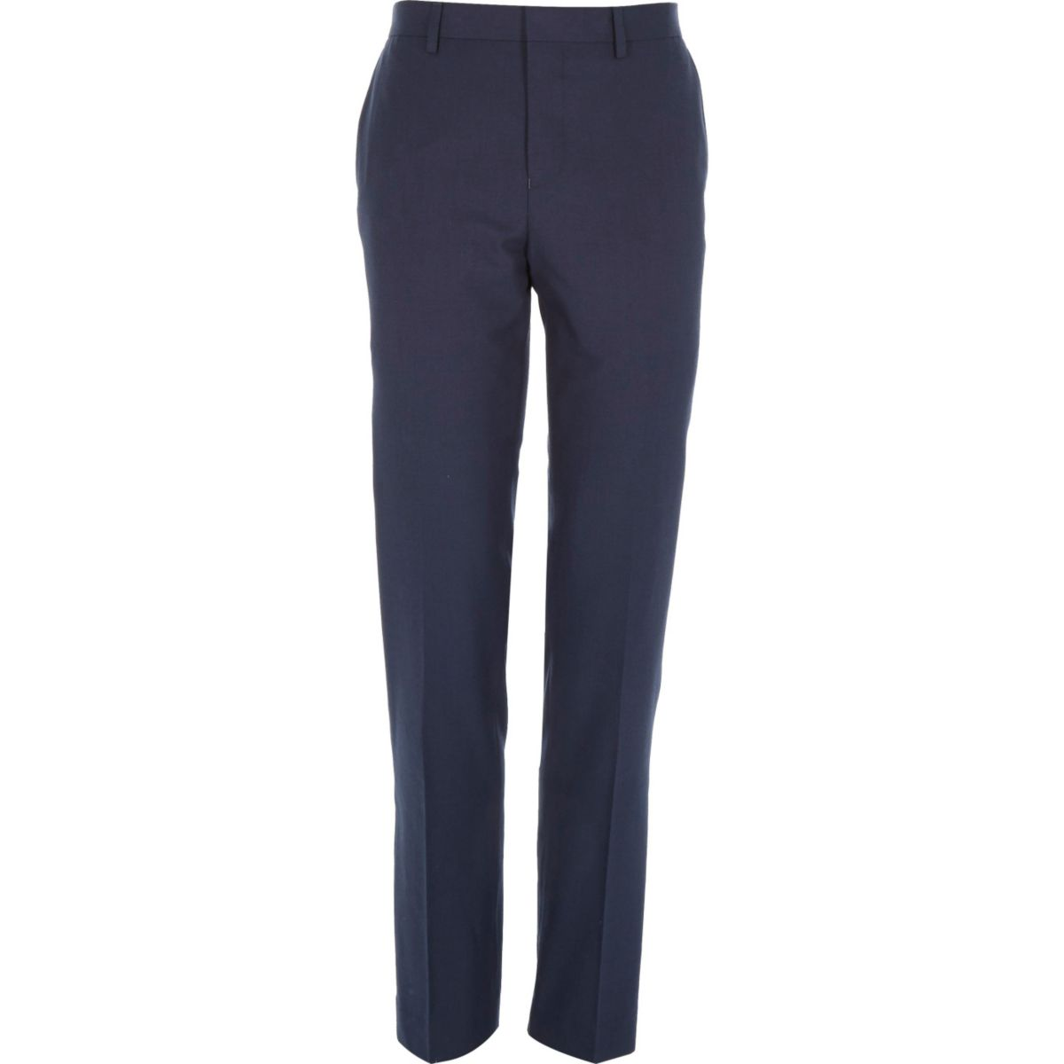 Dark blue slim suit pants