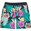 Navy Antioch tropical floral print shorts