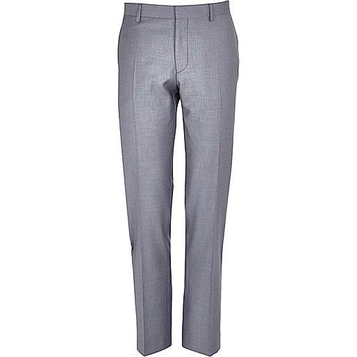 Lilac slim suit trousers