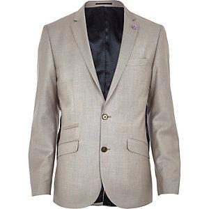 Veste de costume cintrée grège