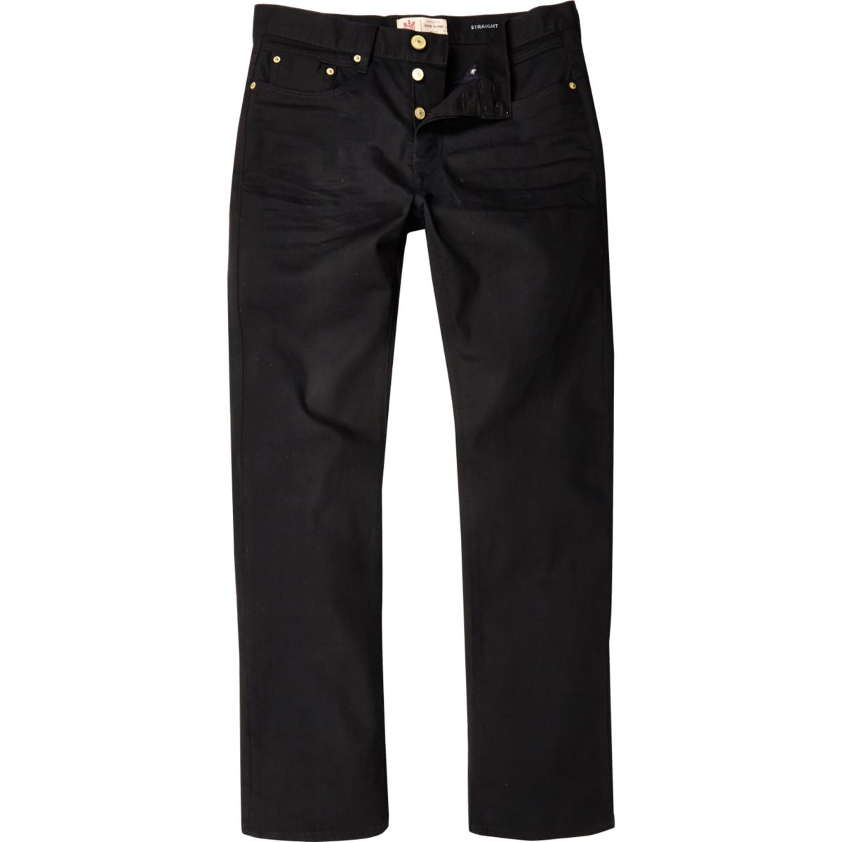 Rechte zwarte Dean jeans