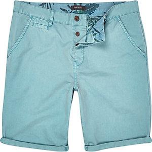 Light blue slim chino shorts