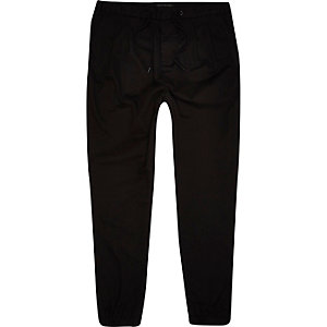 Black ankle cuff joggers