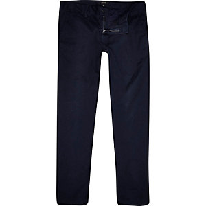 Midnight blue skinny chinos