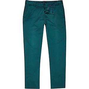 Pantalon chino vert jade coupe slim