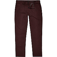 Pantalon chino rouge baie coupe slim