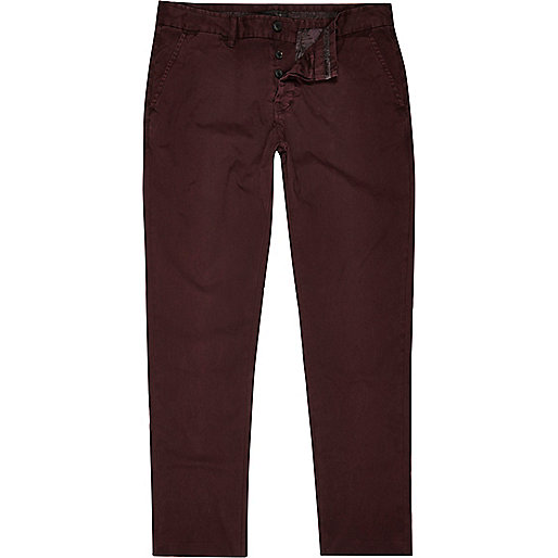 Berry red slim chinos