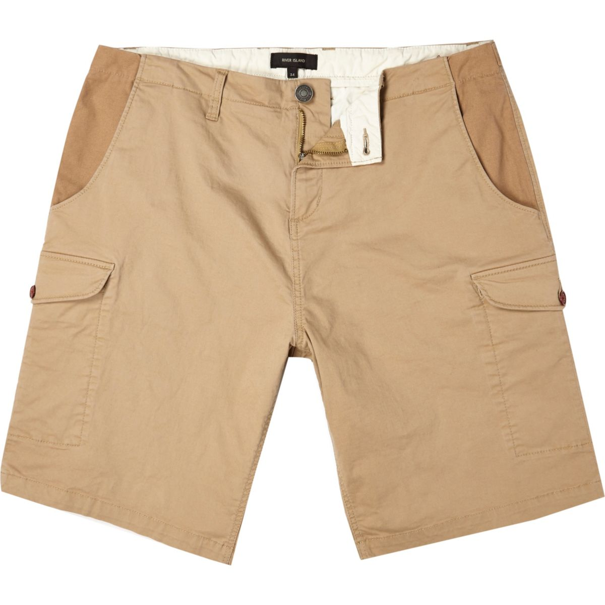 Brown cargo bermuda shorts