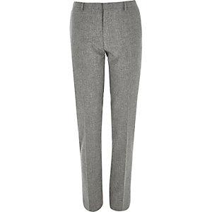 Grey skinny suit pants