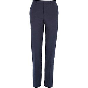 Petrol blue slim suit trousers