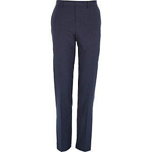 Petrol blue slim suit pants
