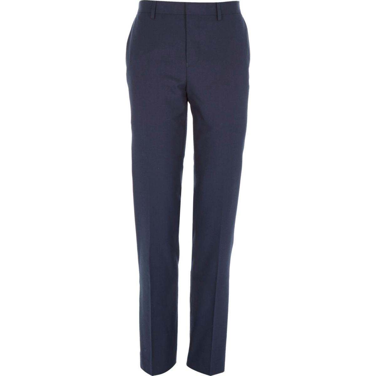 Petrol blue slim suit trousers