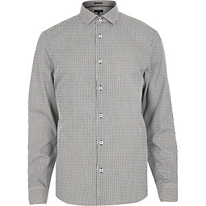 Grey stripe long sleeve shirt