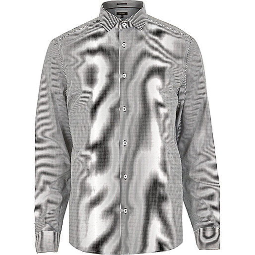 Grey stripe long sleeve shirt