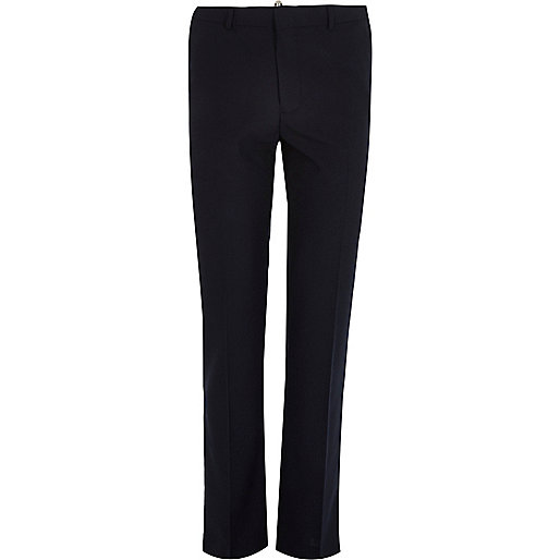 Navy smart slim trousers