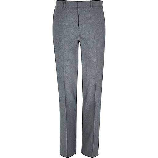 Grey smart classic suit trousers