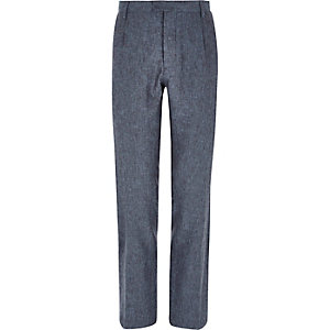 Blue smart trousers