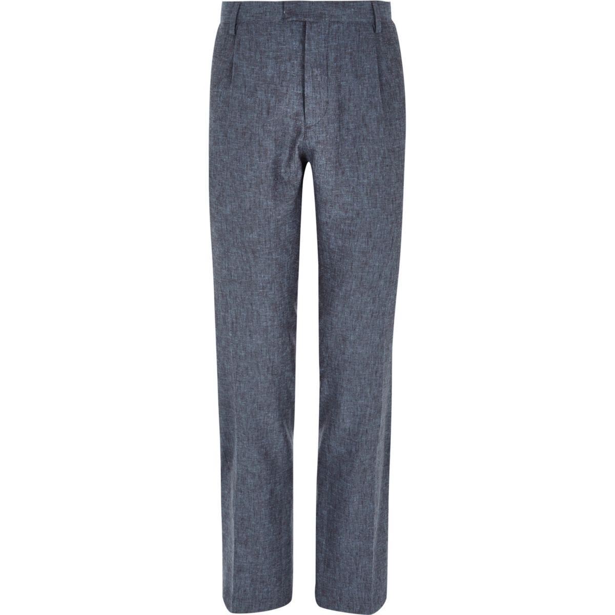 Blue smart pants