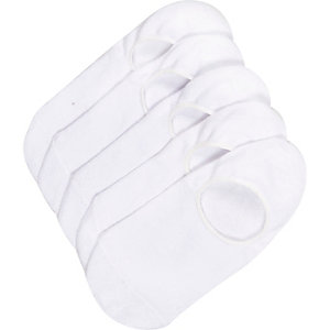 White invisible trainer socks multipack