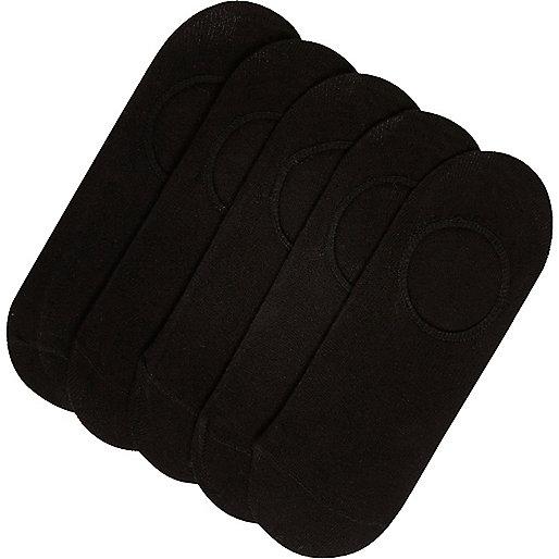 Lot de chaussettes de sport noires invisibles