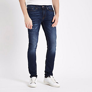 Mid blue washed Sid skinny jeans