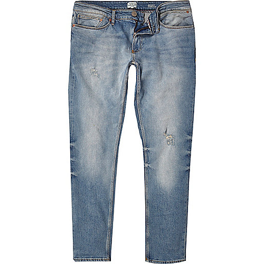 Light wash Sid skinny stretch jeans
