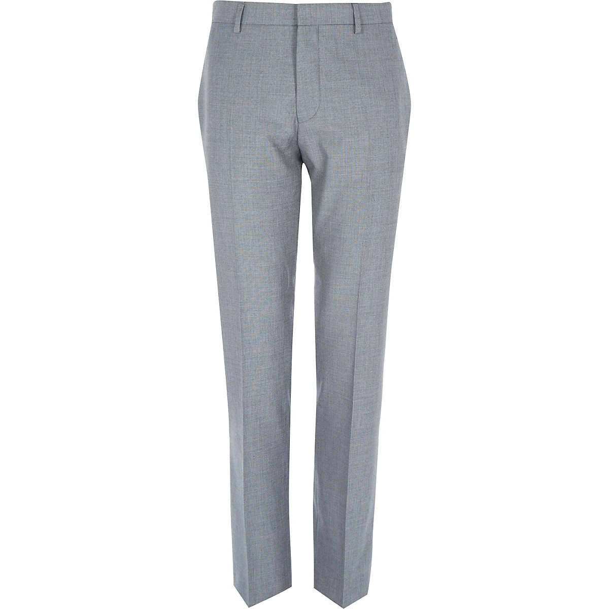 Grey tailored suit trousers