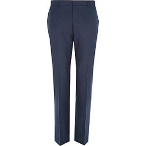 Pantalon de costume ajusté bleu foncé