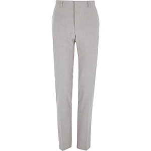 Grey skinny suit pants