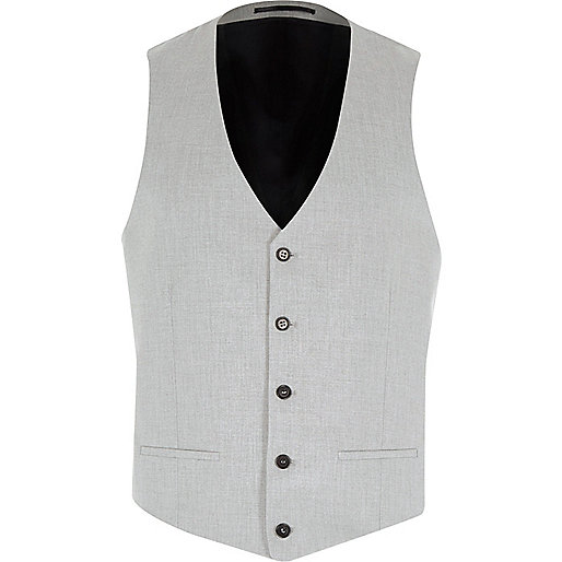 Grey suit waistcoat