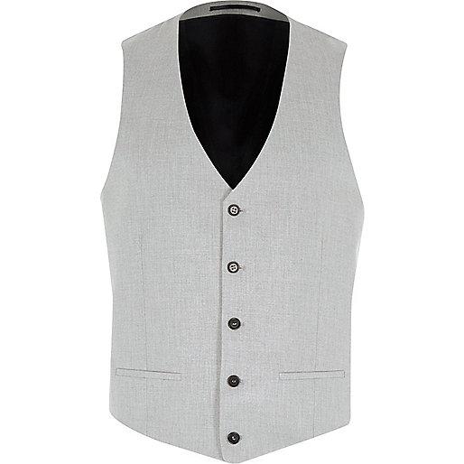 Grey suit vest