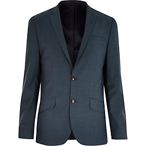 Green slim suit jacket