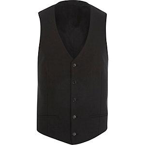 Black single breasted vest