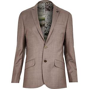 Schmale Jacke mit Futter und Muster aus Wollmischung