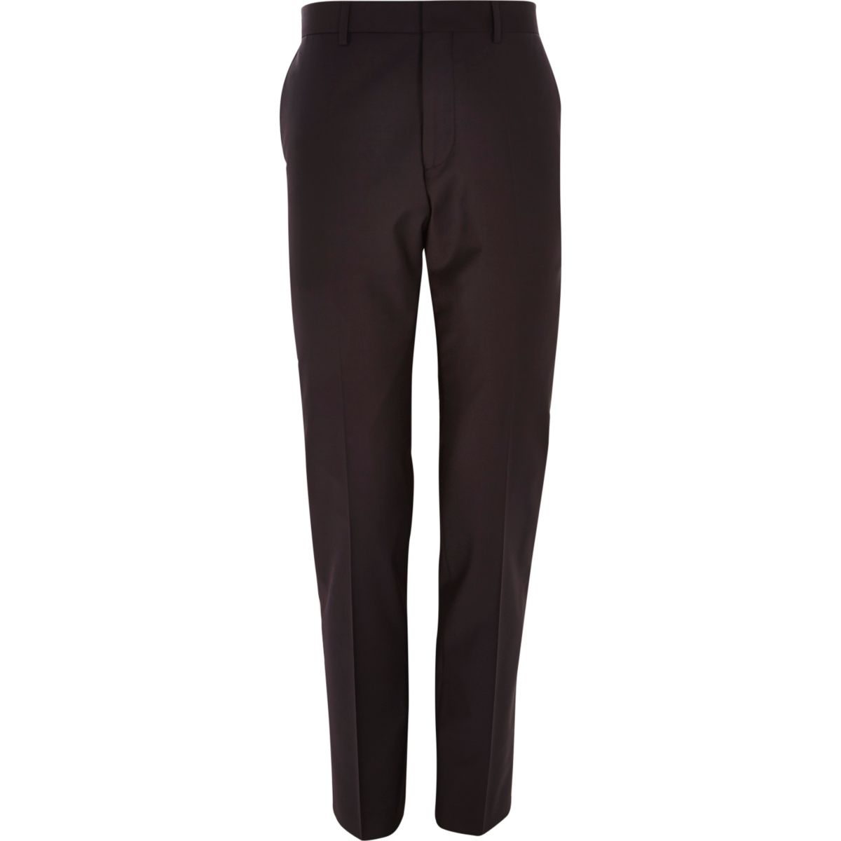 Purple wool-blend slim suit trousers